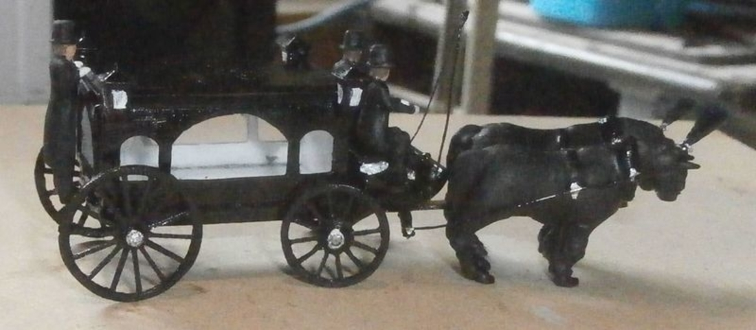 SCALEPRINT HORSE DRAWN HEARSE 00 HO SCALE 3D Print 190913