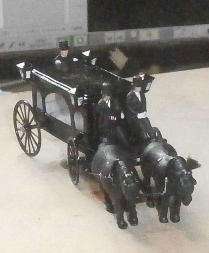 SCALEPRINT HORSE DRAWN HEARSE 00 HO SCALE 3D Print 190914