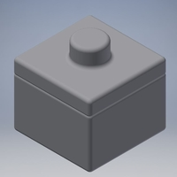 Small Small box with lid 3D Printing 191017