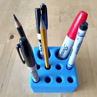 "Small Pen/Pencil Holder - 3.5"" x 3.5"" x 2"" Simple Block Design 3D Printing 191201"