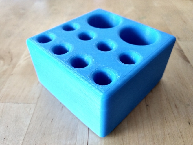 "Pen/Pencil Holder - 3.5"" x 3.5"" x 2"" Simple Block Design 3D Print 191202"