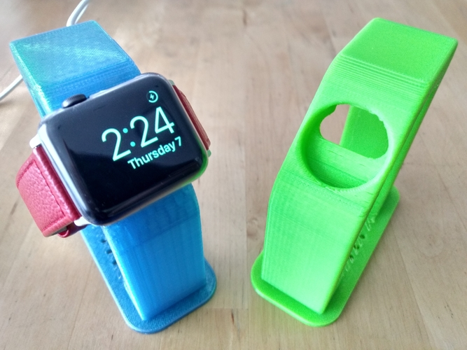 "Apple Watch Charging Stand - Fits 38/42mm (~4"" Height) 3D Print 191213"