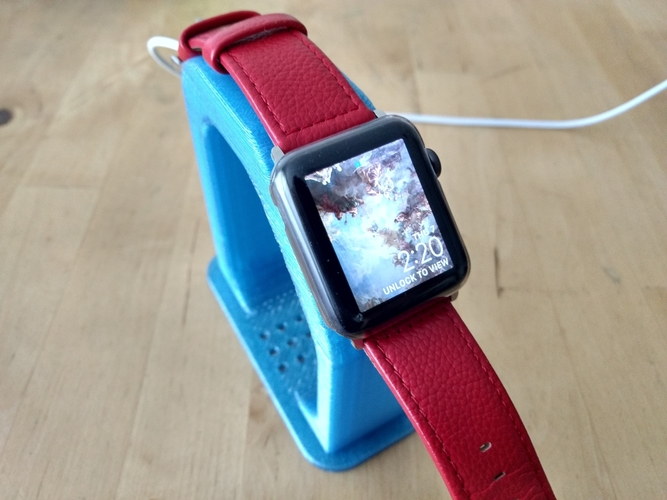 "Apple Watch Charging Stand - Fits 38/42mm (~4"" Height) 3D Print 191218"