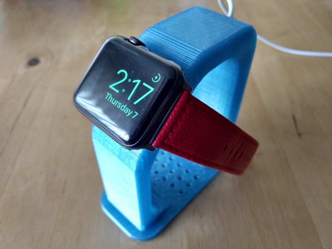 "Apple Watch Charging Stand - Fits 38/42mm (~4"" Height) 3D Print 191219"