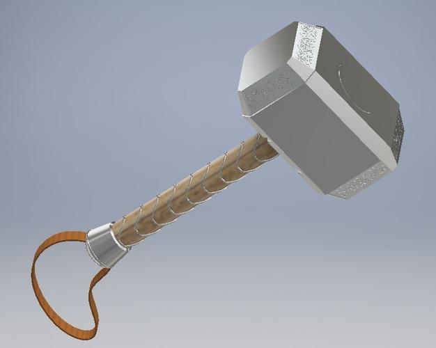 3D Printed Mjolnir keychain by davidskylarbixby | Pinshape