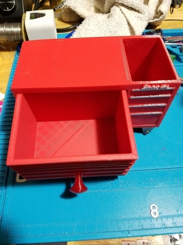 Desk top Snap On Tool box paperclip and pen holder. 3D Print 191437