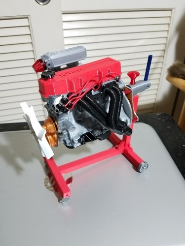 1/10 scale Toyota 22RE Motor. working model 3D Print 191440