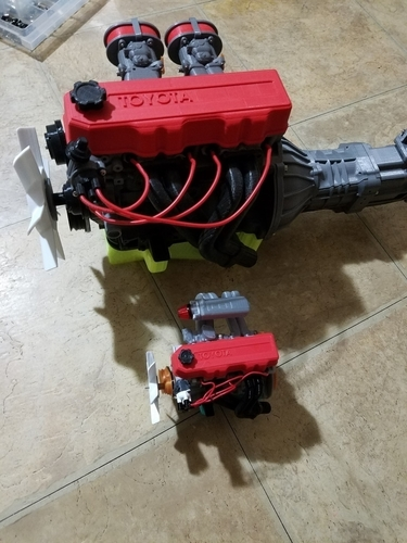 1/10 scale Toyota 22RE Motor. working model 3D Print 191448