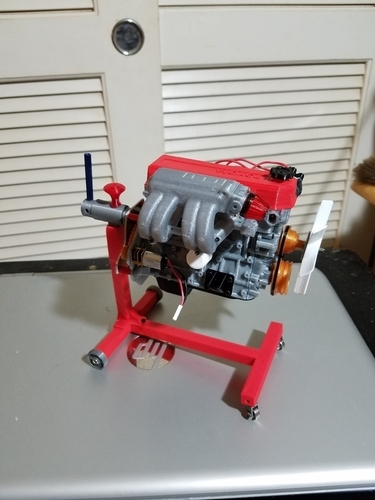 3D Printed 1/10 Scale rolling motor stand by dblnaknak