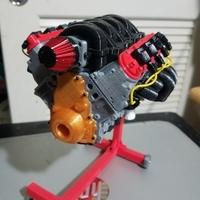 Small 1/10 Scale Camaro LS3 motor. Working model 3D Printing 191478