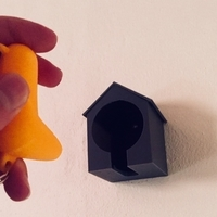 Small Simple Birdhouse Key Holder 3D Printing 191653