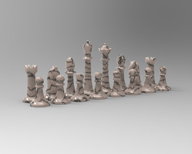 Chess Set 2 3D Print 191732