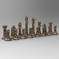 Small Chess Set 2 3D Printing 191733