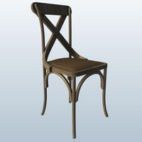 Small X-Back Chair 3D Printing 191823