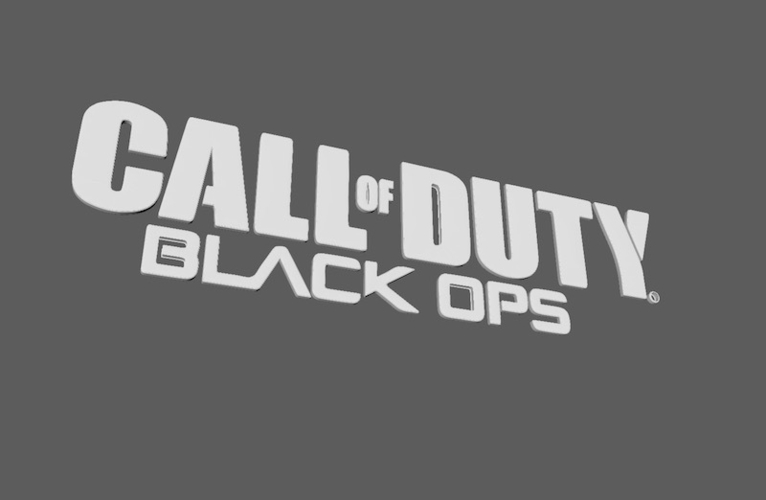 3d Printed Call Of Duty Black Ops Logo By Festus1440 Pinshape