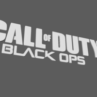 Small Call of Duty Black Ops Logo 3D Printing 191853