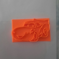 Small Rayo Mcqueen cookie cutter 3D Printing 191860