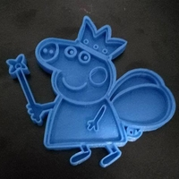 Small Peppa pig cookie cutter 3D Printing 191875