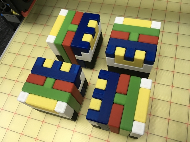Printable Interlocking Puzzle #4 - Level 11 by richgain 3D Print 191944