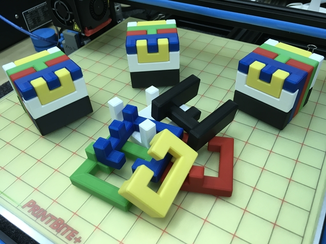 Printable Interlocking Puzzle #4 - Level 11 by richgain 3D Print 191945