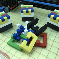 Small Printable Interlocking Puzzle #4 - Level 11 by richgain 3D Printing 191945