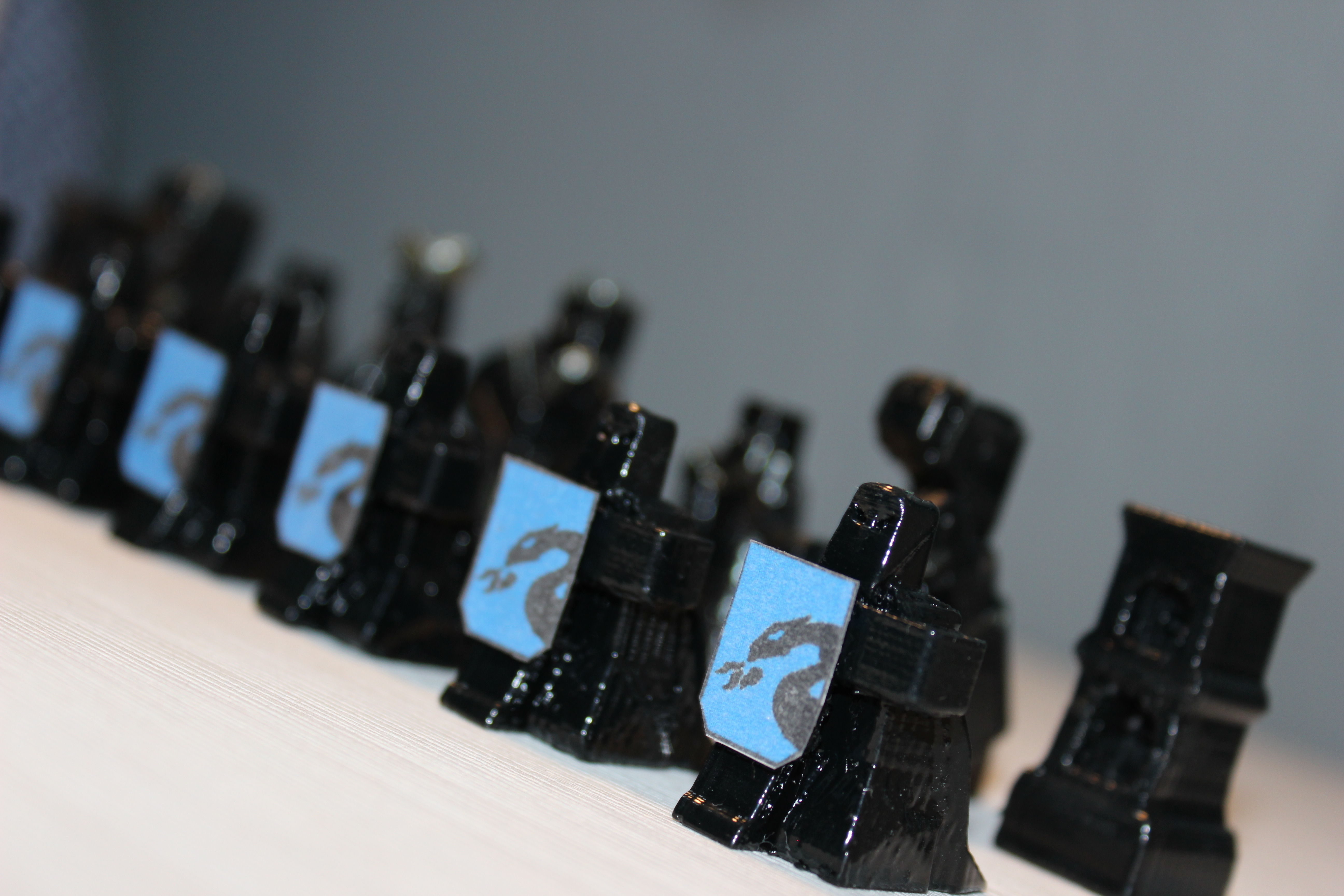 warriors chess set/ juego de ajedrez guerreros 3D Print 192007