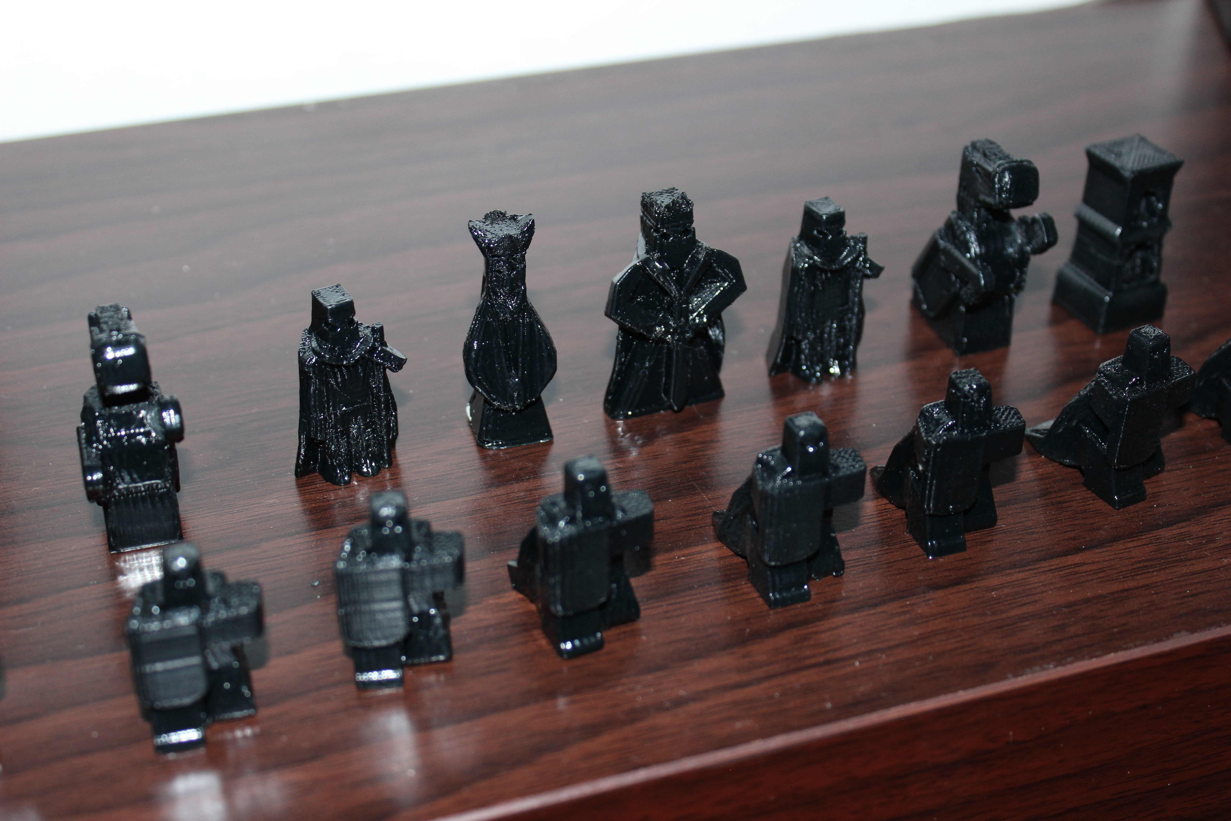 warriors chess set/ juego de ajedrez guerreros 3D Print 192011