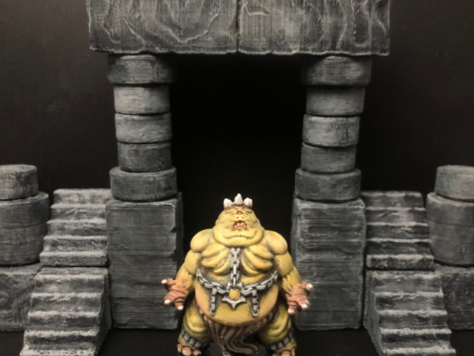 ScatterBlocks: Cyclopean Stone (28mm/Heroic scale) 3D Print 192067