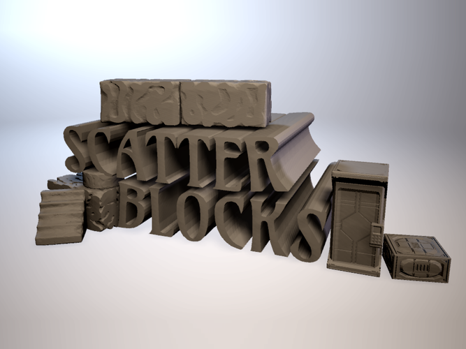 ScatterBlocks: Cyclopean Stone (28mm/Heroic scale) 3D Print 192068
