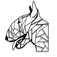 Small Bull Terrier Profile 3D Printing 192071