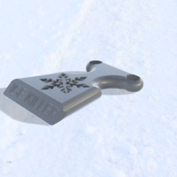Small ice scrapper 3D Printing 192114