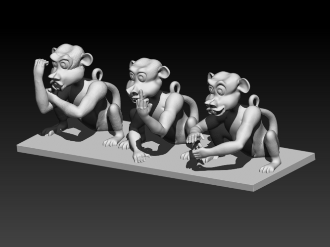 Rude Monkeys 3D Print 192125