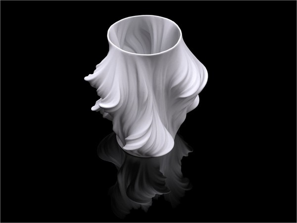 Medium Julia Vase #011 - Heatwave 3D Printing 19214