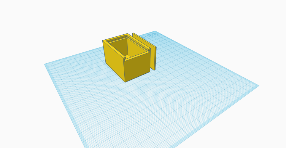 Box with sliding lid 3D Print 192188