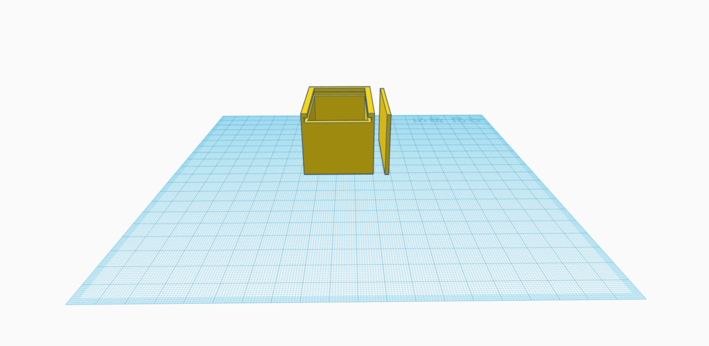 Box with sliding lid 3D Print 192189