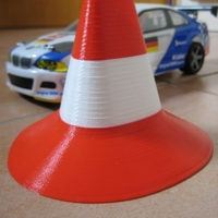 Small Traffic Cone for RC Car office races 3D Printing 192194
