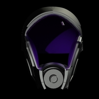 Small Mass Effect Tali'zorah mask 3D Printing 192224
