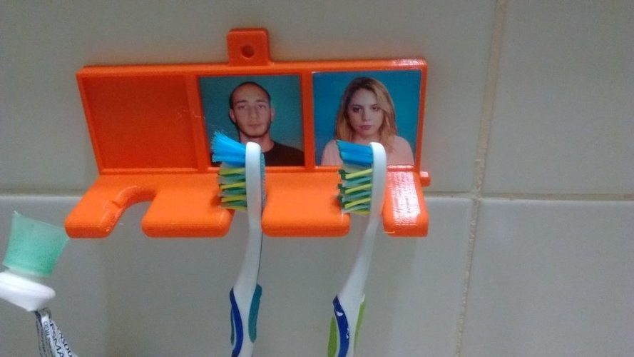 Tooth Brush holder with pictures 3D Print 192282