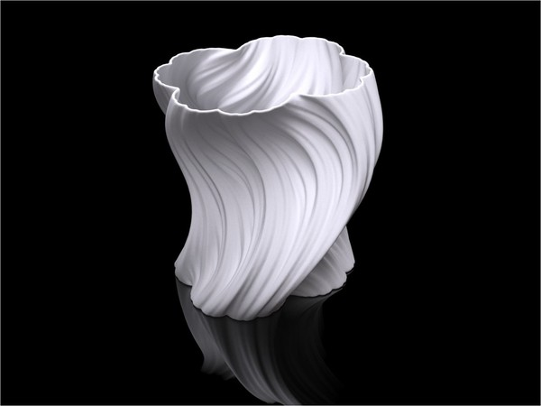 Medium Julia Vase #004 - Bloom 3D Printing 19233