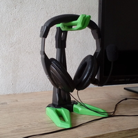Small Headset Holder/Support - Gaming Design - Futuristic 3D Printing 192335