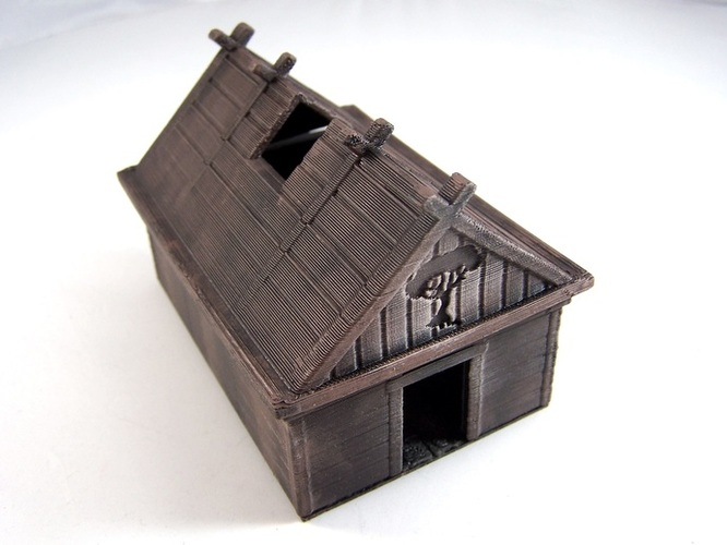 3d printed viking house by dutchmogul pinshape for 3d printed house model