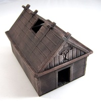 Small Viking House 3D Printing 1924