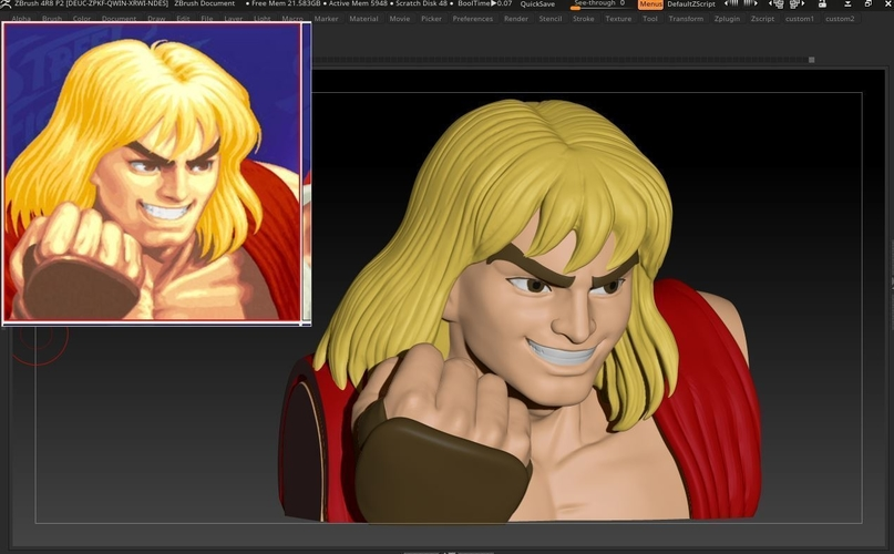 Ken Masters from Street Fighter 2 3D Print 192466