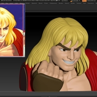 Small Ken Masters from Street Fighter 2 3D Printing 192466