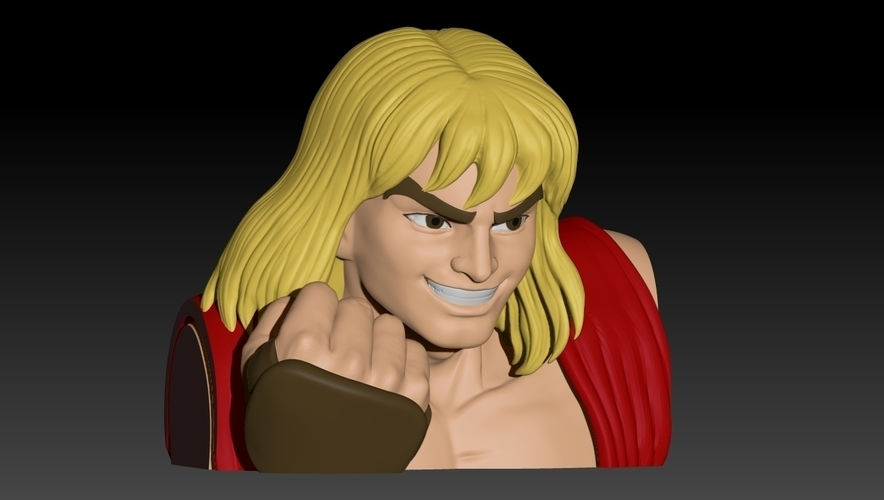 Ken Masters from Street Fighter 2 3D Print 192467