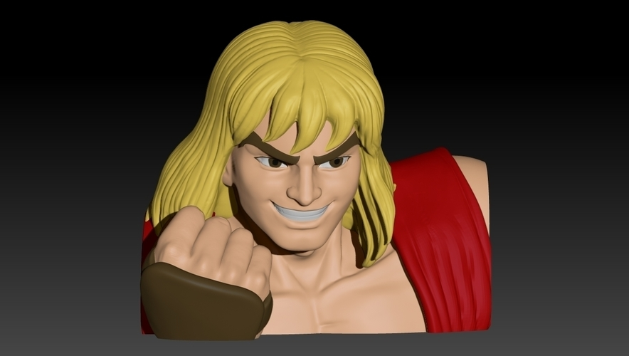 Ken Masters from Street Fighter 2 3D Print 192468