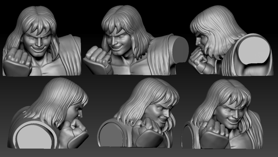 Ken Masters from Street Fighter 2 3D Print 192469