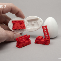 Small Surprise Egg #5 - Tiny Fire Truck 3D Printing 192514
