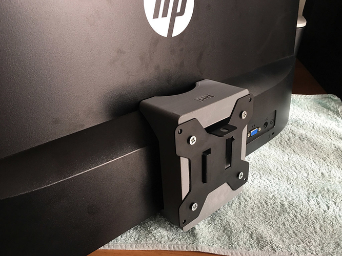 HP 22es monitor - 75mm VESA adapter 3D Print 192584