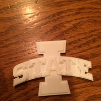Small Iowa State Logo 3D Printing 192592
